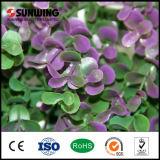 Niedrige Preise PVC-künstliche purpurrote Blatt-Rebe-Zaun-Plastikpanels