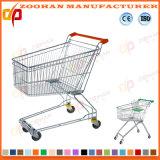 Qualitäts-Metall, das Supermarkt-Einkaufen-Laufkatze (ZHt239, übergibt)