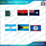 Bandeiras à mão pequenas do condado da fábrica com Flagpole plástico (NF01F02025)