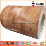 Bobina Prepainted do rolo obturador de madeira de alumínio
