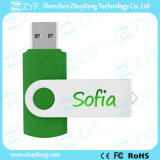 Green Metal Twist Plastic 8GB Flash Drive com logotipo (ZYF1821)