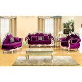 Sofa mit hölzernem Sofa-Rahmen und Kaffeetische (929K)