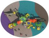 Оборудования спортивной площадки коммерчески детей среднего размера Kaiqi любимейшие напольные с скольжениями, альпинистами, лестницами