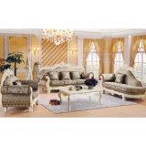 居間の家具(D929C)のためのChaiseのラウンジが付いている木製のソファー