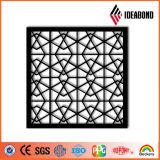 Los paneles de aluminio tallados CNC decorativos de la pantalla de Ideabond