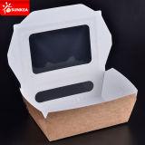 Ventana de empaquetado de papel de la caja de los alimentos de preparación rápida