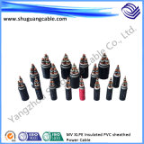 Le système mv XLPE a isolé le câble ignifuge blindé mince engainé par PVC de courant électrique de fil d'acier