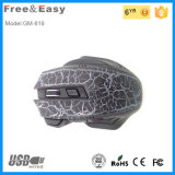7D Gaming Mouse 높은 쪽으로 고해상 Ergonomic Crackle Painting Light