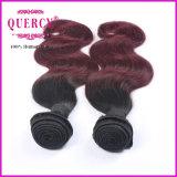 2調子Ombreは毛の織り方を束ねる卸売価格10-30インチの人間の毛髪の拡張着色した