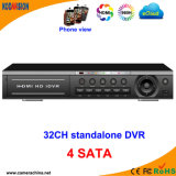 32 Channel H. 264 DVR de rede digital CCTV autônomo