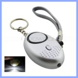 Fabrik Price Black Silver Lady Portable Personal Alarm mit Key Ring Belt Support Soem