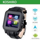 Teléfono elegante androide del reloj con el reloj de Bleutooth
