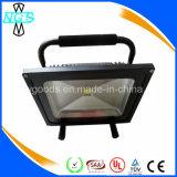 Luz de inundação portátil ao ar livre, projector recarregável do diodo emissor de luz do RGB
