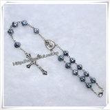 La resina religiosa di modo borda il rosario Chain (IO-CB123)