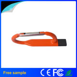 Movimentação do flash do USB da forma de Carabiner do metal para a promoção