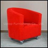 도매 호텔 여가 직물 빨간 팔걸이 의자 (SP-HC262)