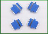 Óptico de fibra del LC Upc al tipo adaptador hembra-varón azul de la virola del adaptador FPC del RCA del color