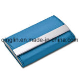 Quality superiore Fashion Leather e Stainless Steel Name Card Caso (QL-MPH-0008)