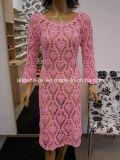 セクシーで美しいハンドニットかぎ針編みレディースウェディングドレス