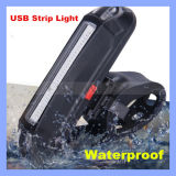 IP68 150lm weißes Rot LED USB-nachladbares Fahrrad-Endstück-Licht