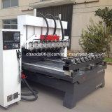 CNC роторный, Multi маршрутизатор маршрутизатора 5 осей CNC головки, ось Multihead 5 поворачивая машину маршрутизатора CNC