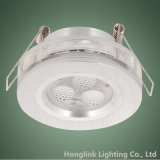 Nouveau 3W DEL Aluminum Fire Rated Square DEL Recessed Ceiling Downlight