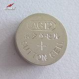 Батарея клетки кнопки AG12 Lr43 алкалическая