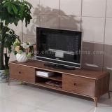 Деревянная стойка LCD TV без фингерпринта обрабатывая рамку металла