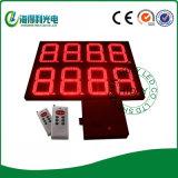 Étalage de numéro de chiffre de la couleur rouge DEL