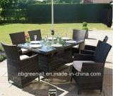 안뜰 옥외 등나무 정원 가구 의자 테이블 세트