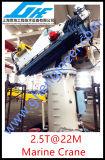 grúa marina del zócalo del auge telescópico hidráulico de los 2.5t@22m