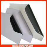 Schwarzes/graues selbstklebendes Vinyl (GAV120)