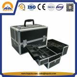 Cas cosmétique de renivellement de beauté avec le bâti en aluminium (HB-2206)