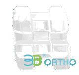 Bride en céramique orthodontique dentaire de Roth/M-Sliding