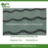 La pierre colorée ébrèche la tuile de toiture enduite en métal (classique)