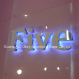 Numero Sign con il LED Light su Letter Sign
