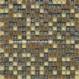 Annata Style Resin & Glass Mosaic con Ice Crackle Ceramic