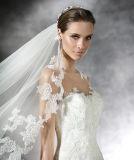 Partito nuziale del merletto di illusione del Neckline del merletto della corte di cerimonia nuziale bianca di seta semplice del treno che anche vestito convenzionale