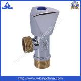 Válvula de ángulo sanitaria de cobre amarillo global de las ventas de la fábrica (YD-5002)