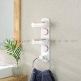 Support d'assiette de savon de salle de bains avec la bride de fixation passée au bichromate de potasse de boucle d'essuie-main