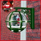 Todas las luces de la decoración LED de Papá Noel de la lámpara de pared de la Navidad del verde