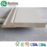 Baseboard barato material de madera preparado blanco