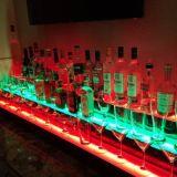 Indicador acrílico para bebidas, suporte do diodo emissor de luz do PNF do vinho