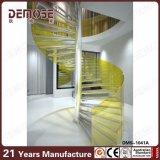 染められたガラス柵の螺旋階段(DMS-1041)