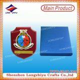 Металлическая пластинка высокого качества выдвиженческая деревянная с металлопластинчатым для подарка