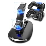 USB doppio Charging Dock Stand Wireless Controller Charger per Playstation PS4
