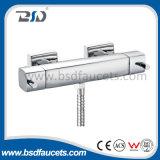 Mélangeur thermostatique de barre de douche de salle de bains de flux élevé en laiton