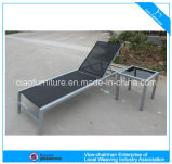 Im FreienPowder Coating Fabric Lounger mit Table