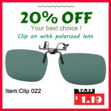 Clip polarisé par promotion sur la lunetterie Tac UV400 de lunettes de soleil pilotant des glaces
