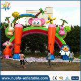 Spaß-Waldvergnügungspark-aufblasbares Kind-Bogen-Gatter für das Bekanntmachen
